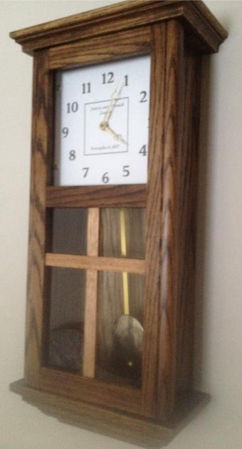 Click to enlarge image  - Wall Box Clocks with Exposed Pendulums - Old World Style Wall Clock