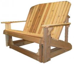Love Seat Glider Our Western Red Cedar is hand-selected and sourced from sustainable managed Pacific Northwest forests. 