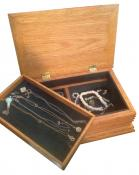 Click to enlarge image Jewelry Box with Removable Shelf - Jewelry Box with Removable Tray - Great to be given as a Graduation Gift.